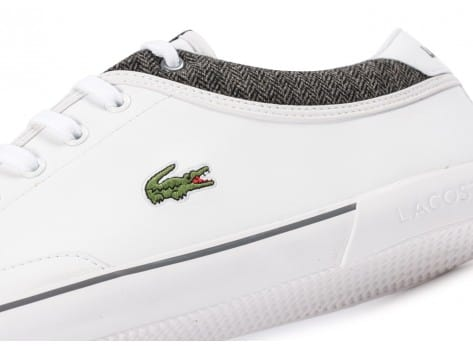 Chaussures Lacoste Angha Cuir Blanche vue extérieure