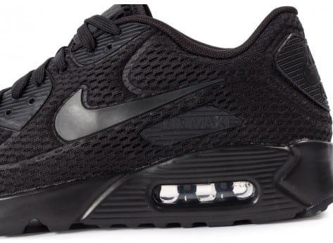 Chaussures Nike Air Max 90 Ultra BR noire vue dessus