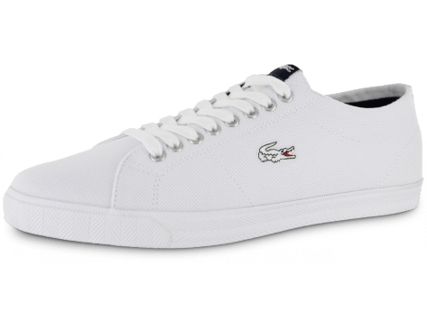 lacoste marcel toile blanche chaussures homme chausport. Black Bedroom Furniture Sets. Home Design Ideas