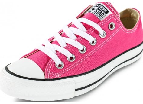 Chaussures Converse Chuck Taylor All-Star Low rose vue dessus