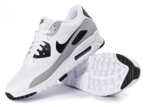 Chaussures Nike Air Max 90 Ultra Essential blanche et grise vue intérieure