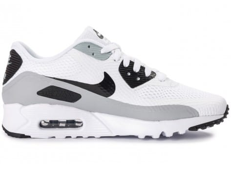Chaussures Nike Air Max 90 Ultra Essential blanche et grise vue dessous