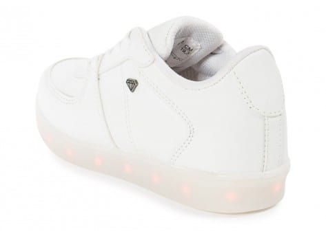 Chaussures Cash Money Baskets LED LightLord Enfant blanche vue dessous