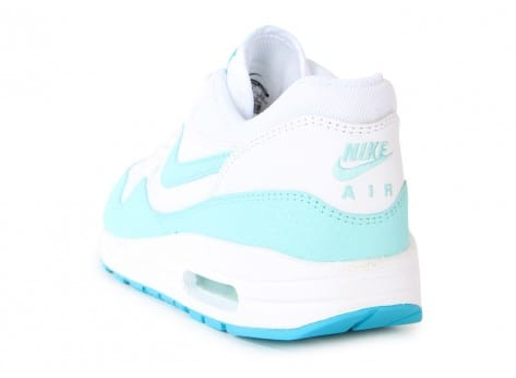 Chaussures Nike AIR MAX 1 ESSENTIAL BLANCHE TURQUOISE vue arrière