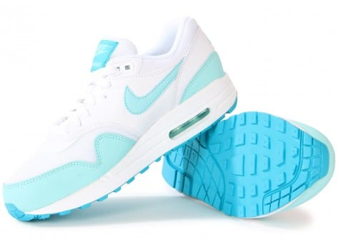 Chaussures Nike AIR MAX 1 ESSENTIAL BLANCHE TURQUOISE vue intérieure