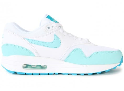 Chaussures Nike AIR MAX 1 ESSENTIAL BLANCHE TURQUOISE vue dessous
