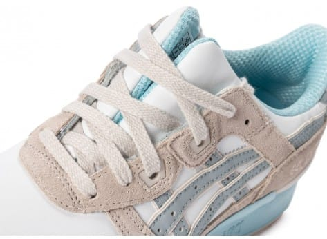 Chaussures Asics Gel Lyte III Light grey Agate Pack vue dessus