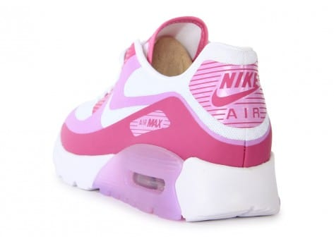 Chaussures Nike Air Max 90 Ultra Br Blanche Rose vue arrière