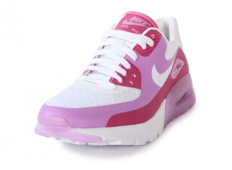 Chaussures Nike Air Max 90 Ultra Br Blanche Rose vue avant