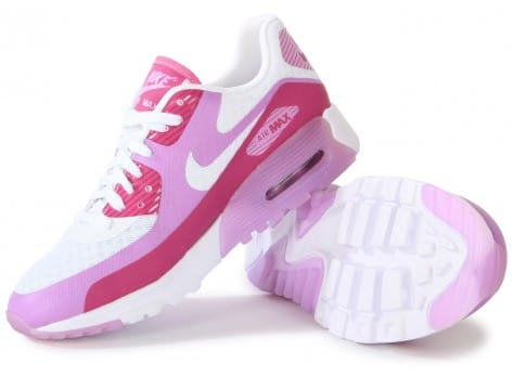Chaussures Nike Air Max 90 Ultra Br Blanche Rose vue intérieure