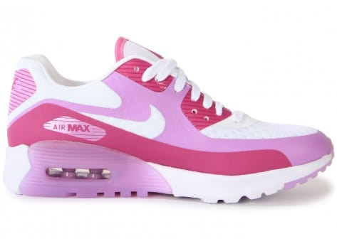 Chaussures Nike AIR MAX 90 ULTRA BR BLANCHE ROSE vue dessous
