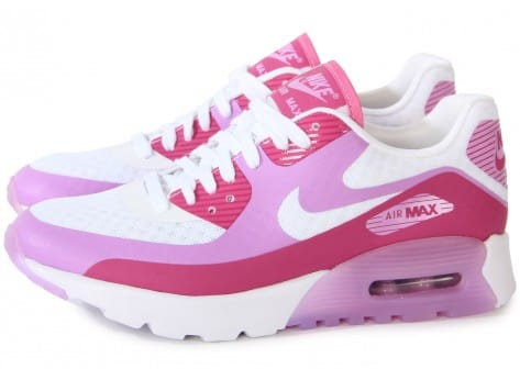 Chaussures Nike AIR MAX 90 ULTRA BR BLANCHE ROSE vue extérieure