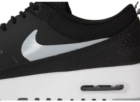Chaussures Nike Air Max Thea Noire Blanche vue dessus