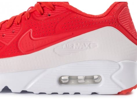 Chaussures Nike Air Max 90 Ultra Moire rouge vue dessous