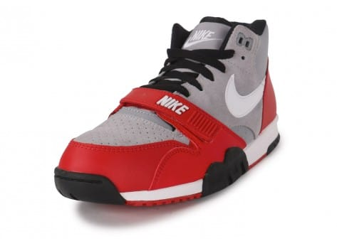 Chaussures Nike Air Trainer 1 Mid grise vue avant