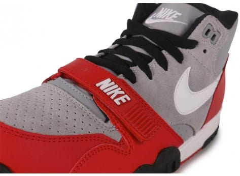 Chaussures Nike Air Trainer 1 Mid grise vue dessus