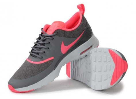 Chaussures Nike Air Max Thea Grise Rose vue intérieure