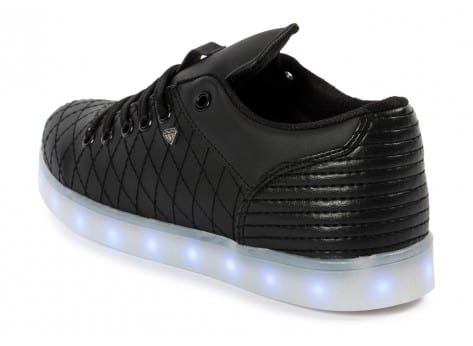 Chaussures Cash Money Baskets LED Low noire vue dessous