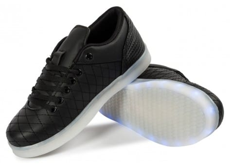 Chaussures Cash Money Baskets LED Low noire vue avant