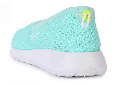 Chaussures Nike ROSHE ONE SLIP-ON TURQUOISE vue arrière