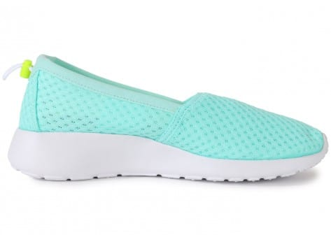 Chaussures Nike Roshe One Slip-on Turquoise vue dessous