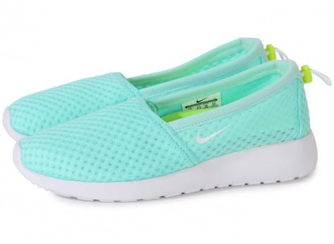 Chaussures Nike Roshe One Slip-on Turquoise vue extérieure