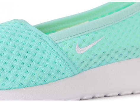 Chaussures Nike Roshe One Slip-on Turquoise vue dessus