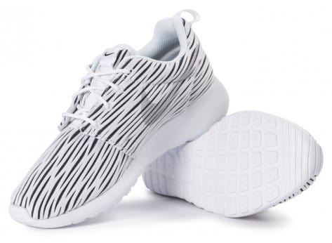 Chaussures Nike Roshe one ENG blanche vue intérieure