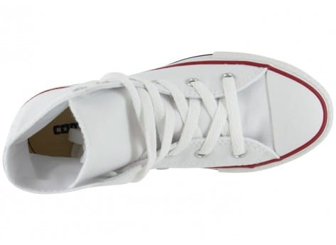 Chaussures Converse Chuck Taylor All Star enfant blanche vue dessus