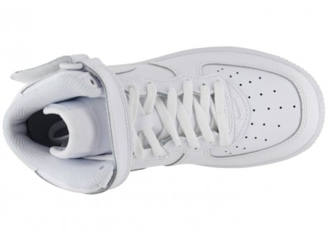 Chaussures Nike AIR FORCE 1 MID ENFANT BLANCHE vue dessus