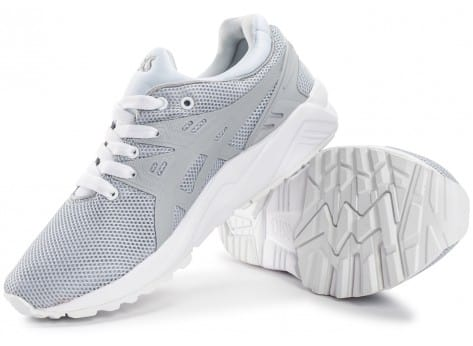 Chaussures Asics Gel Kayano Trainer Evo W gris clair vue dessous