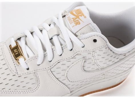 Chaussures Nike Air Force 1 '07 Premium blanche vue dessus