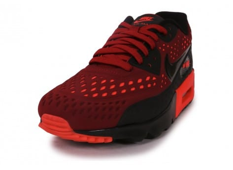 the best attitude e6830 f3c0b ... chaussures nike air max 90 ultra breathe rouge et noir vue avant