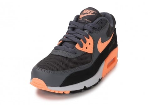 Chaussures Nike Air Max 90 Essential grise et orange vue avant