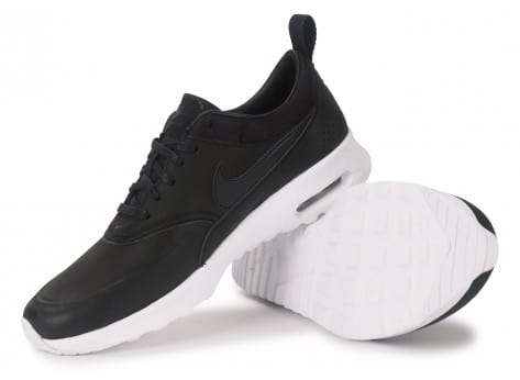 new style 8bfe1 aa69f chaussures nike air max thea cuir noire vue dessous semelle