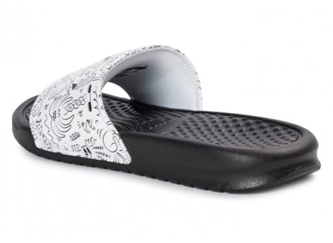 Chaussures Nike Benassi Just Do It print Steven Harrington vue arrière