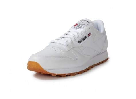 Chaussures Reebok CLASSIC LEATHER BLANCHE GUM vue avant