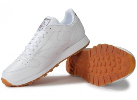 Chaussures Reebok CLASSIC LEATHER BLANCHE GUM vue intérieure