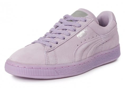 Chaussures Puma Suede Classic Mono Iced violet vue avant