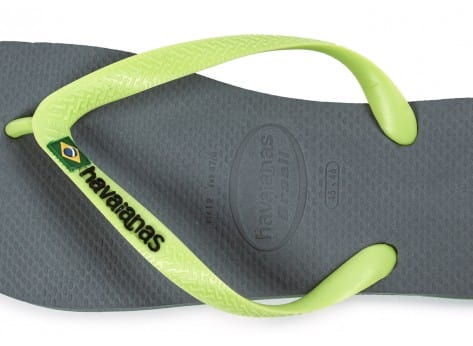 Chaussures Havaianas Tongs Brasil Logo grise vue dessus