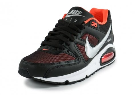 Chaussures Nike Air Max Command Junior noir orange vue avant