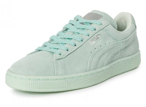 Chaussures Puma Suede Classic Mono Iced mint vue avant