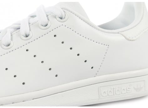 Chaussures adidas Stan Smith Triple Blanc vue dessus