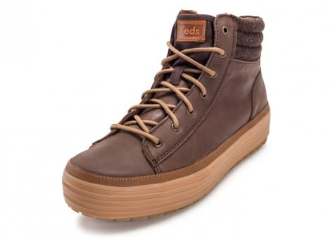Chaussures Keds high Rise Leather Wool marron vue intérieure