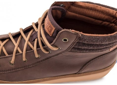 Chaussures Keds high Rise Leather Wool marron vue dessus