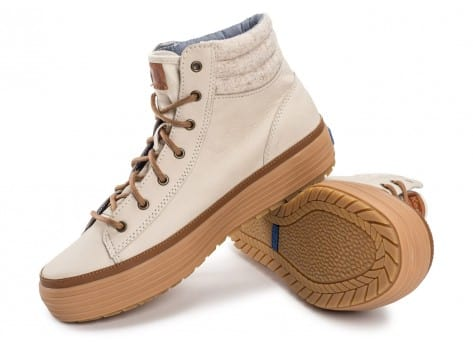 Chaussures Keds high Rise Leather Wool beige vue intérieure
