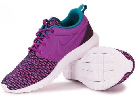 Chaussures Nike Roshe NM Flyknit violet vue intérieure