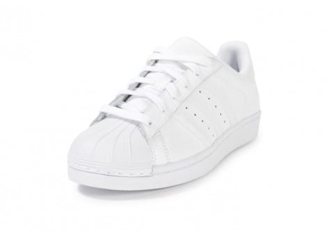 Chaussures adidas Superstar Foundation junior blanche vue avant