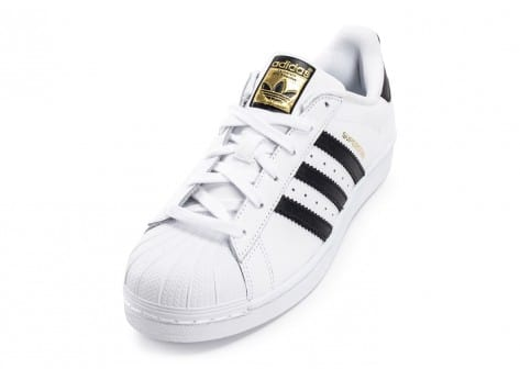 Chaussures adidas Superstar Foundation junior blanc noir vue avant