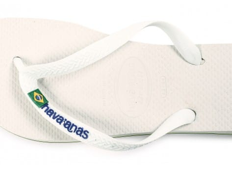 Chaussures Havaianas Tongs Brasil Logo blanche vue dessus